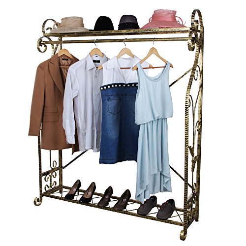 songmics new garment rack clothes rail hanger 165 x 137 x. Black Bedroom Furniture Sets. Home Design Ideas
