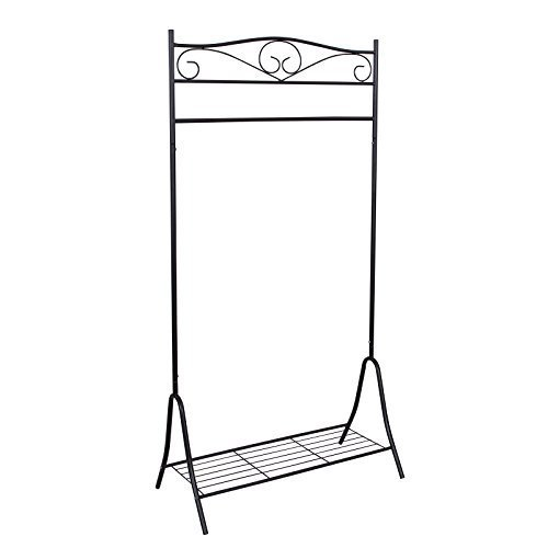 Songmics New Garment rack Clothes rail Hanger Metal Clotheshorse Clothes Airer 173 x 90 x 44.5cm, 2 Colours Available HSR01 Songmics New Garment rack Clothes rail Hanger Metal Clotheshorse Clothes Airer 173 x 90 x 445cm 2 Colours Available HSR01 0