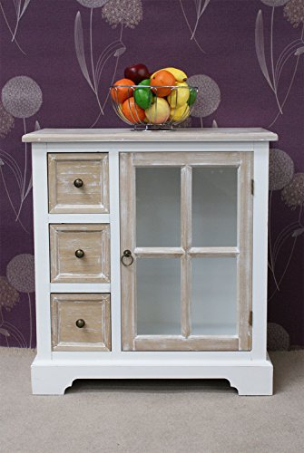 Stunning Shabby Chic Casamoré Cotswold 3 Drawer, 1 Glass Door Unit Stunning Shabby Chic Casamor Cotswold 3 Drawer 1 Glass Door Unit 0