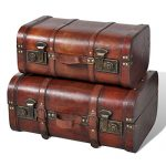Vintage Wooden Treasure Chest Brown 2 PCS Vintage Wooden Treasure Chest Brown 2 PCS 0 150x150