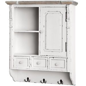 Wall Hanging Shelf Display Cabinet Unit With Drawers Chic Shabby Chic Cupboard Wall Hanging Shelf Display Cabinet Unit With Drawers Chic Shabby Chic Cupboard 0 300x300