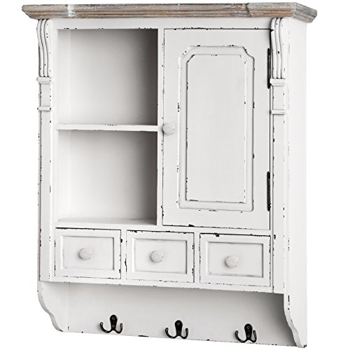 Wall Hanging Shelf Display Cabinet Unit With Drawers Chic Shabby Chic Cupboard Wall Hanging Shelf Display Cabinet Unit With Drawers Chic Shabby Chic Cupboard 0