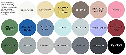 Clotted Cream Furniture Paint great for creating a shabby chic style. 1 litre Clotted Cream Furniture Paint great for creating a shabby chic style. 1 litre Winter Grey Chalk Based Furniture Paint great for creating a shabby chic style 250ml 0 1
