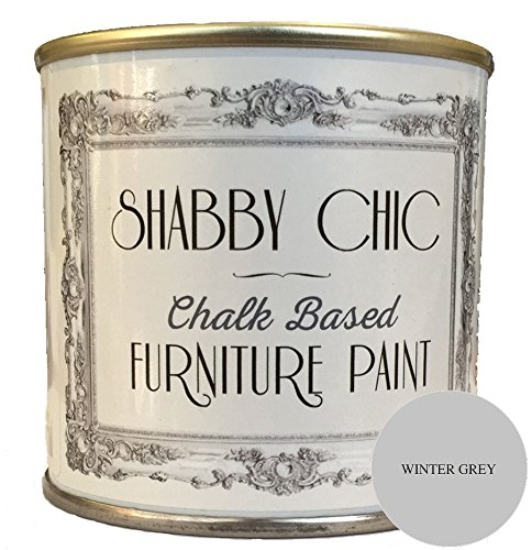 Winter Grey Furniture Paint great for creating a shabby chic style. 1 litre Winter Grey Furniture Paint great for creating a shabby chic style. 1 litre Winter Grey Chalk Based Furniture Paint great for creating a shabby chic style 250ml 0