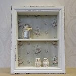Wooden Wall Display Cabinet Shelf Unit White Pink Shabby Chic Vintage Style Wooden Wall Display Cabinet Shelf Unit White Pink Shabby Chic Vintage Style 0 150x150