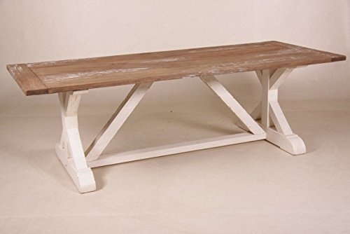 Casa Padrino Shabby Chic White Dining Table Antique Style / Color Wood 240  X 100 Cm