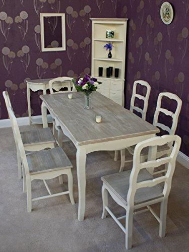 Classic Casamore Devon Rectangular Dining Table and 6 Dining Chairs in French Inspired Shabby Chic Style - FREE DELIVERY Classic Casamore Devon Rectangular Dining Table and 6 Dining Chairs in French Inspired Shabby Chic Style – FREE DELIVERY Classic Casamore Devon Rectangular Dining Table and 6 Dining Chairs in French Inspired Shabby Chic Style FREE DELIVERY 0