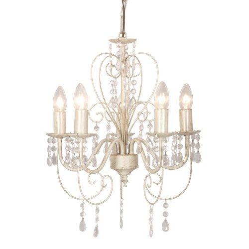 Distressed White Shabby Chic 5 Way Smd Led Ceiling Light