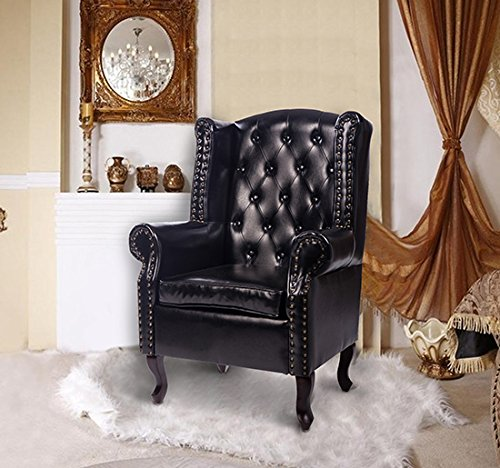 Homcom Antique High Back Chair PU Leather Seat Chesterfield Type Armchair Queen Anne Fireside Chair w/ Cushion Homcom Antique High Back Chair PU Leather Seat Chesterfield Type Armchair Queen Anne Fireside Chair w/ Cushion Homcom Antique High Back Chair PU Leather Seat Chesterfield Type Armchair Queen Anne Fireside Chair w Cushion 0