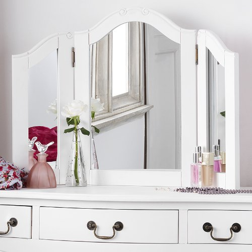 Juliette Shabby Chic Antique White Dressing Table Mirror ONLY Juliette Shabby Chic Antique White Dressing Table Mirror ONLY Juliette Shabby Chic Antique White Dressing Table Mirror ONLY 0