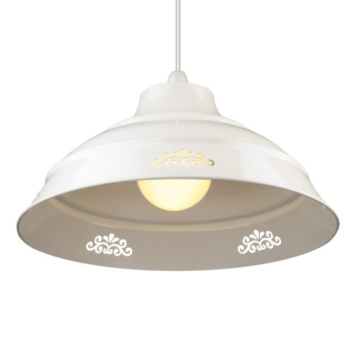 Large Vintage Style Flower Cut Design Glossy Metal Ceiling Light Fitting Pendant Shade - White Large Vintage Style Flower Cut Design Glossy Metal Ceiling Light Fitting Pendant Shade – White Large Vintage Style Flower Cut Design Glossy Metal Ceiling Light Fitting Pendant Shade White 0