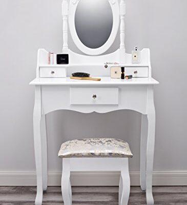 paddington agtc0011 dressing table with stool & mirror white vanity Vienna DR006 | Dressing Table with Stool & Mirror | White Vanity Paddington AGTC0011 Dressing Table with Stool Mirror White Vanity 0 365x400