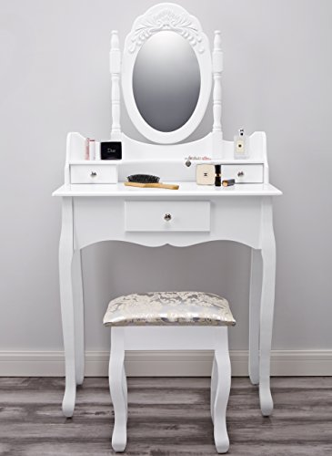Paddington AGTC0011 Dressing Table with Stool & Mirror White Vanity Vienna DR006 | Dressing Table with Stool & Mirror | White Vanity Paddington AGTC0011 Dressing Table with Stool Mirror White Vanity 0