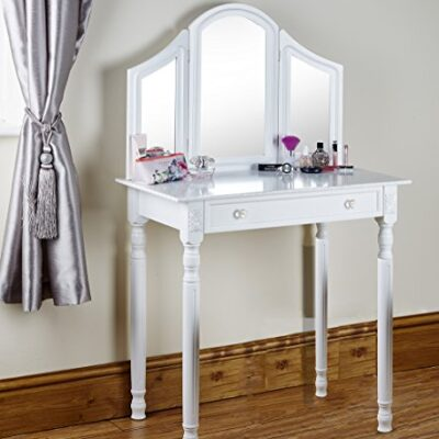 shabby chic white or black dressing table vanity makeup table dresser storage mirror Shabby Chic White or Black Dressing Table Vanity Makeup Table Dresser Storage Mirror Shabby Chic White or Black Dressing Table Vanity Makeup Table Dresser Storage Mirror 0 400x400