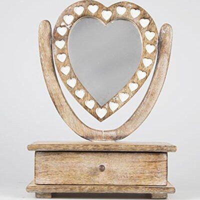 shabby chic wooden petit mirror heart dressing table with drawer Shabby Chic Wooden Petit Mirror Heart Dressing Table With Drawer Shabby Chic Wooden Petit Mirror Heart Dressing Table With Drawer 0 400x400