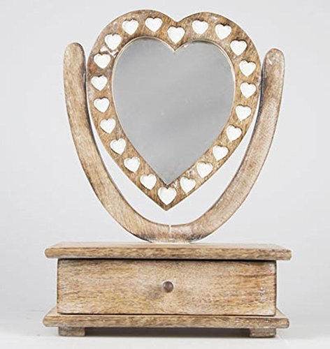 Shabby Chic Wooden Petit Mirror Heart Dressing Table With Drawer Shabby Chic Wooden Petit Mirror Heart Dressing Table With Drawer Shabby Chic Wooden Petit Mirror Heart Dressing Table With Drawer 0
