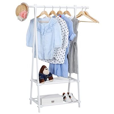 songmics stable metal clothes rack with 2 storage shelves 150 x 48 x 108 cm white llr12w Songmics Stable Metal Clothes Rack with 2 Storage Shelves 150 x 45 x 108 cm White LLR12W Songmics Stable Metal Clothes Rack with 2 Storage Shelves 150 x 48 x 108 cm White LLR12W 0 400x400