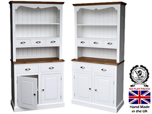100% Solid Wood Spice Drawer Dresser, 3ft Wide Handcrafted & Cream Painted Contrasting Welsh Dresser. No flat packs, No assembly (3WDSP) 100 Solid Wood Spice Drawer Dresser 3ft Wide Handcrafted Cream Painted Contrasting Welsh Dresser No flat packs No assembly 3WDSP 0