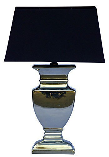 59 CM Table Lamp with Black Shabby Chic Silver Ceramic light 59 CM Table Lamp with Black Shabby Chic Silver Ceramic light 0