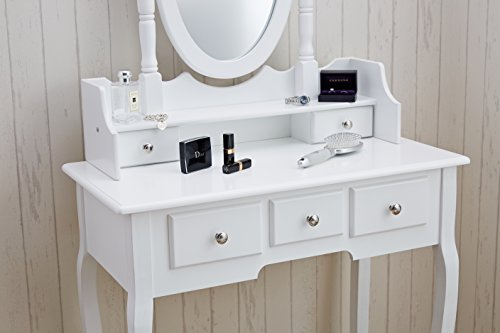 Capri Dressing Table Mirror Amp Stool Set Premium
