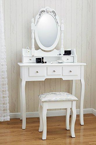 Capri Dressing Table Mirror Amp Stool Set Premium