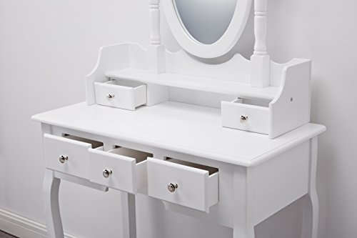Capri dressing table mirror stool set premium for Miroir 40 x 80