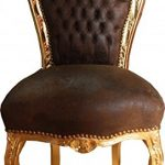 Casa-Padrino-Baroque-Dinner-Chair-Brown-leather-look-Gold-Furniture-0  Casa Padrino Baroque Dinner Chair Brown leather look / Gold – Furniture Casa Padrino Baroque Dinner Chair Brown leather look Gold Furniture 0 150x150