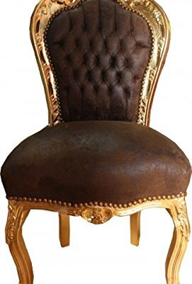 casa padrino baroque dinner chair brown leather look / gold - furniture Casa Padrino Baroque Dinner Chair Brown leather look / Gold – Furniture Casa Padrino Baroque Dinner Chair Brown leather look Gold Furniture 0 271x400