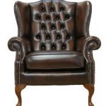 Chesterfield Mallory Flat Wing Queen Anne High Back Wing Chair UK Manufactured Antique Brown Chesterfield Mallory Flat Wing Queen Anne High Back Wing Chair UK Manufactured Antique Brown 0 150x150