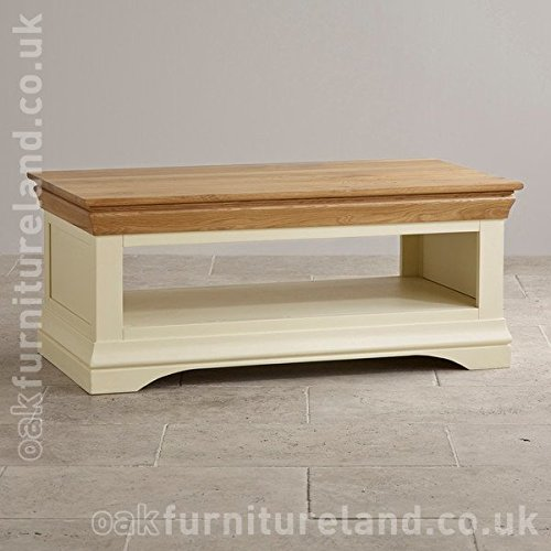 Gold Shabby Chic Coffee Table: Country Cottage Natural Oak And Painted Coffee Table