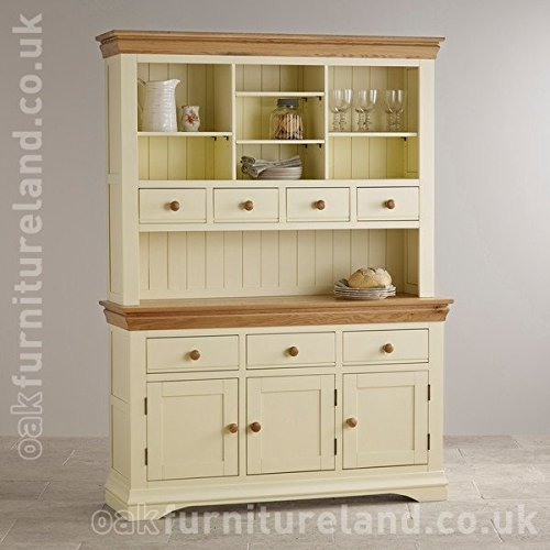 Country Cottage Natural Oak and Painted Large Dresser Country Cottage Natural Oak and Painted Large Dresser 0