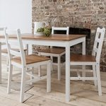 Dining Table & 4 Chairs Annika in White and Natural Pine Noa & Nani Dining Table 4 Chairs Annika in White and Natural Pine 0 150x150