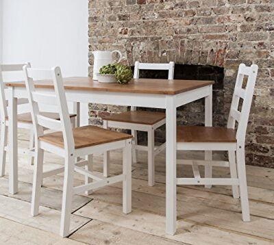 dining table & 4 chairs annika in white and natural pine noa & nani Dining Table & 4 Chairs Annika in White and Natural Pine Noa & Nani Dining Table 4 Chairs Annika in White and Natural Pine 0 400x358