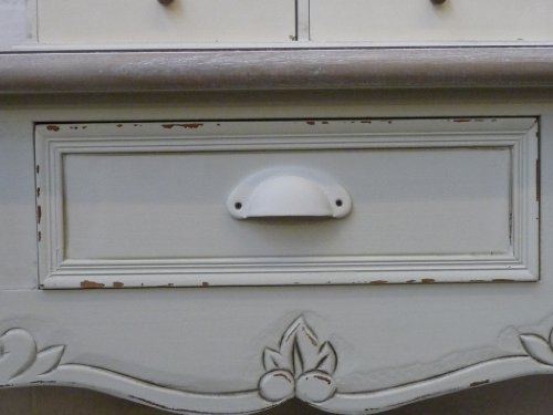 French Country Cream 3 Drawer Dressing Console Table