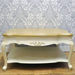 French Style Shabby Chic Cream Painted Wood Top Coffee Table with Shelf French Style Shabby Chic Cream Painted Wood Top Coffee Table with Shelf 0 150x150