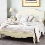 Juliette Shabby Chic Champagne Double Bed with wooden headboard Juliette Shabby Chic Champagne Double Bed with wooden headboard 0 150x150