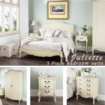 Juliette Shabby chic champagne double bed 5pc bedroom suite. Cream double bed, bedside table, wardrobe, chest of drawers. Fully assembled Juliette Shabby Chic Champagne King bed 5pc bedroom suite FULLY ASSEMBLED 0 150x150