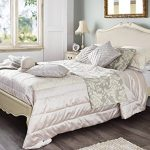 Juliette Shabby Chic Champagne Upholstered Double Bed. 4ft6 French cream bed with upholstered headboard. STUNNING Juliette Shabby Chic Champagne Upholstered Double Bed 0 150x150