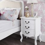 Shabby Chic Antique White Upholstered 5ft King Bed, Stunning White French bed. Quality Juliette Shabby Chic White Double bed 5pc bedroom suite FULLY ASSEMBLED 0 0 150x150