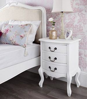Shabby Chic Antique White Upholstered 5ft King Bed, Stunning White French bed. Quality Juliette Shabby Chic White Double bed 5pc bedroom suite FULLY ASSEMBLED 0 0 300x339