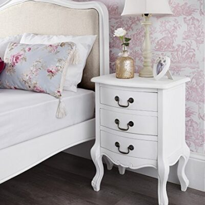 shabby chic antique white upholstered 5ft king bed, stunning white french bed. quality Shabby Chic Antique White Upholstered 5ft King Bed, Stunning White French bed. Quality Juliette Shabby Chic White Double bed 5pc bedroom suite FULLY ASSEMBLED 0 0 400x400