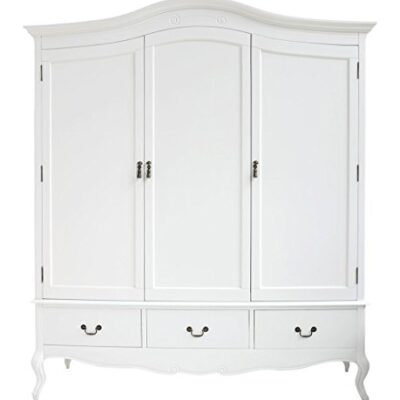 juliette shabby chic white triple wardrobe with hanging rails, shelves and deep drawers, stunning large 3 door wardrobe Juliette Shabby Chic White Triple Wardrobe with hanging rails, shelves and deep drawers, Stunning Large 3 door wardrobe Juliette Shabby Chic White Triple Wardrobe with hanging rails shelves and deep drawers Stunning Large 3 door wardrobe 0 400x400