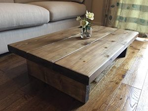 Solid Rustic Handmade Pine coffee table, finished in a Chunky Country Oak Solid Rustic Handmade Pine coffee table finished in a Chunky Country Oak FREE DELIVERY 0 300x225
