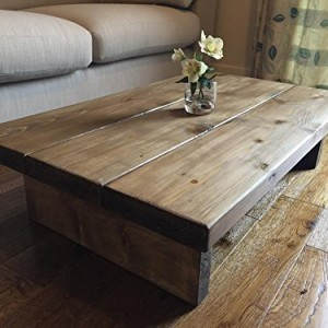 Solid Rustic Handmade Pine Coffee Table Finished In A