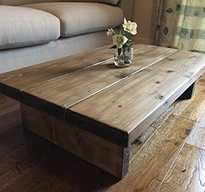 solid rustic handmade pine coffee table, finished in a chunky country oak Solid Rustic Handmade Pine coffee table, finished in a Chunky Country Oak Solid Rustic Handmade Pine coffee table finished in a Chunky Country Oak FREE DELIVERY 0 400x375