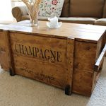 Uncle Joe´s Vintage Style Shabby Chic Champagne Chest, Wood, Light Brown, Large, 98 x 55 x 46 cm Uncle Joes Vintage Style Shabby Chic Champagne Chest Wood Light Brown Large 98 x 55 x 46 cm 0 150x150