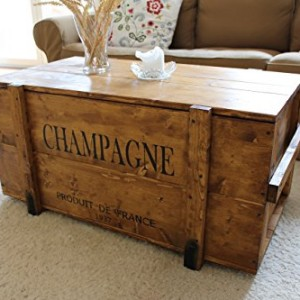 Uncle Joe´s Vintage Style Shabby Chic Champagne Chest, Wood, Light ...