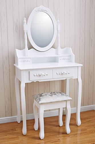 Vienna Dr006 White Dressing Table Stool Amp Mirror Set 5