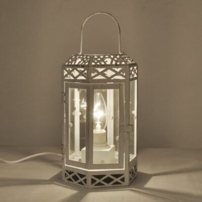 vintage style cream/distressed metal & glass shabby chic lantern table lamp Vintage Style Cream/Distressed Metal & Glass Shabby Chic Lantern Table Lamp Vintage Style CreamDistressed Metal Glass Shabby Chic Lantern Table Lamp 0 400x400