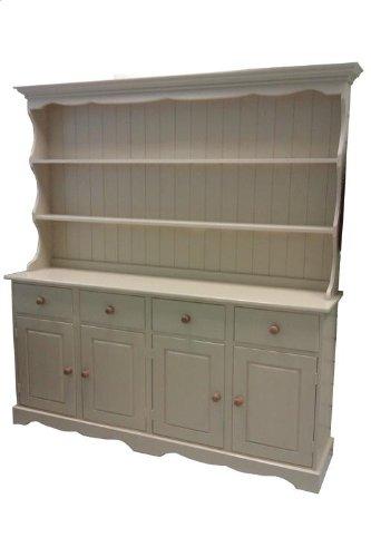 Wye Pine Cottage Painted Welsh Dresser – Complete Wye Pine Cottage Painted Welsh Dresser Distressed 0